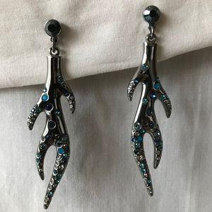 Coral Shape Swarovski Stud Earrings